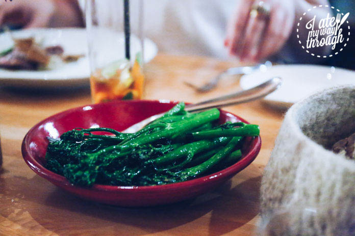 Chargrilled local broccolini
