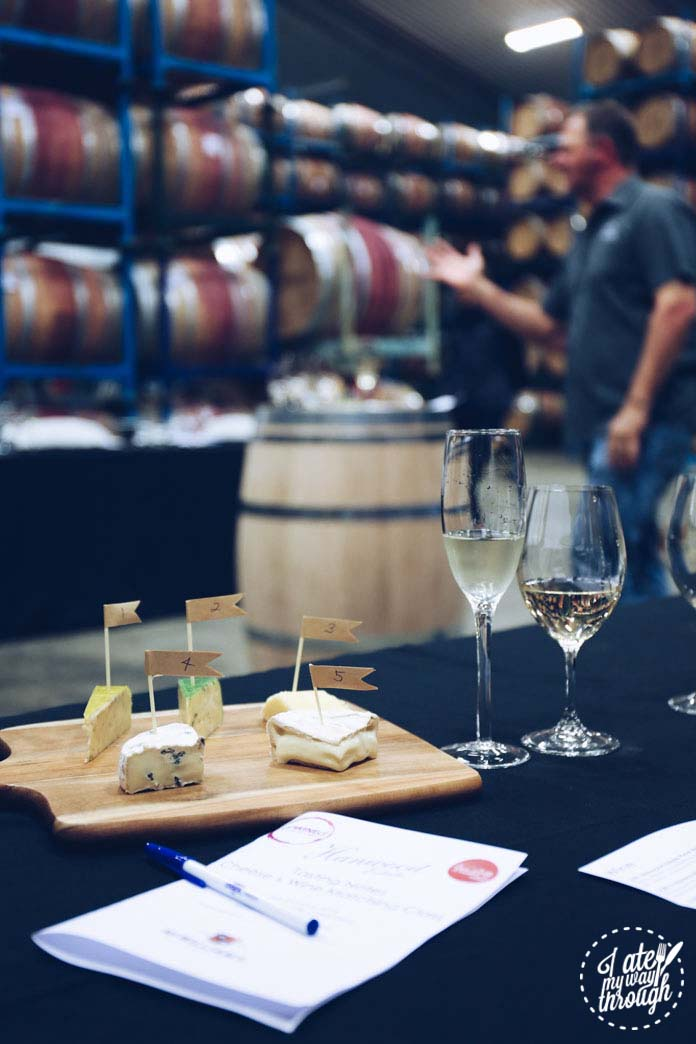 Learning to pair McWilliams wine with Coolamon Cheeses!