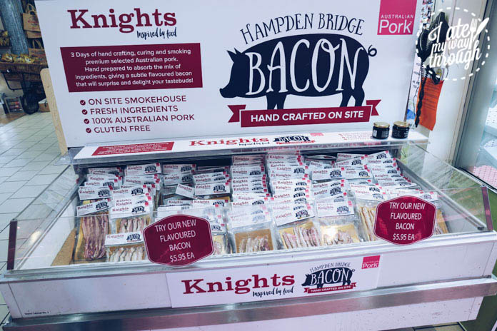 Bacon smoked on-site, there are over 8 flavours of bacon on sale at Knights Meats & Deli, Wagga Wagga