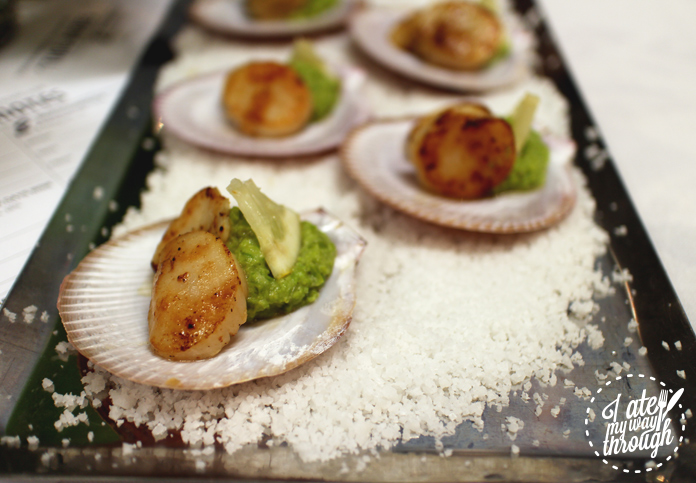 Scallops and peas at the 4th Korean Cultural Centre Banquet