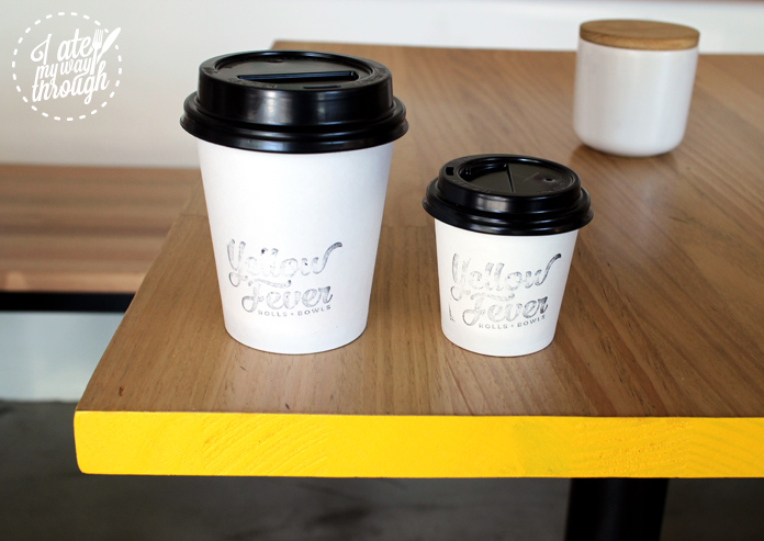Yellow Fever takeaway coffee