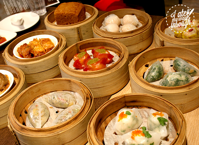 A sample of the selection of food available on the night. Note: the steamed egg cake on the top-left corner.