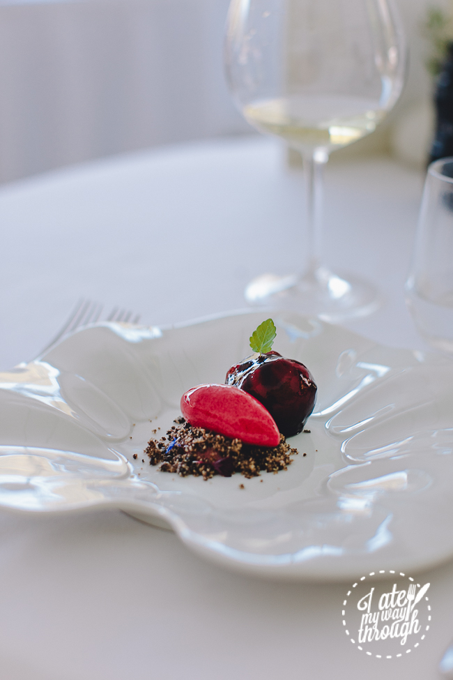 berowra waters inn, fine dining, modern australian, australia, goats cheese and beetroot, beetroot