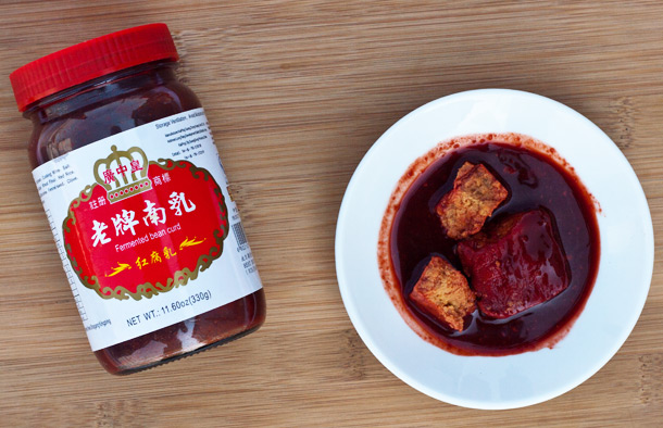 Fermented red bean curd (source: feedingthedragon.com)