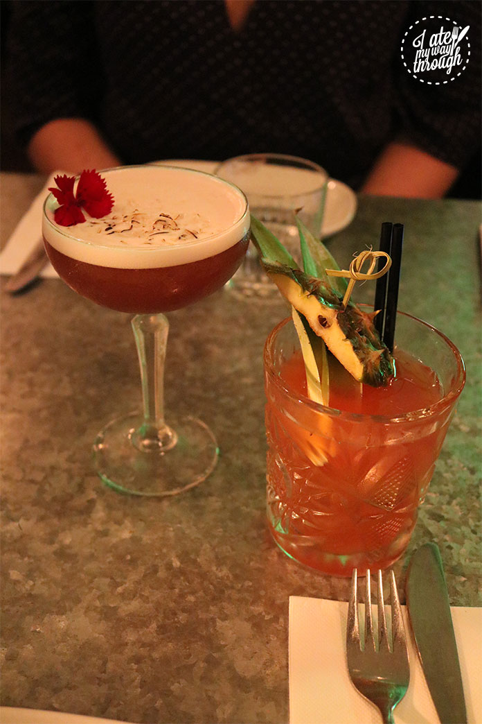 The Coconut French Martini and Spiced Pineapple Negroni were a great way to start our night out.