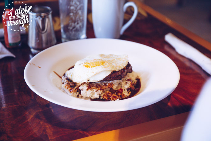 Loco Moco at Tropics Bar & Grill