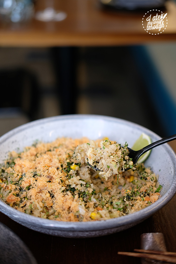 Corn, nori & fish 'chahan' fried rice $18